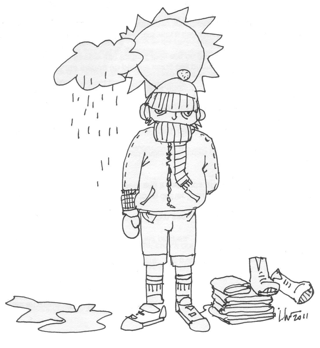 Alpinista con mucha ropa