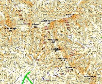 Resultado de imagen de imagenes mapas de curva de nivel