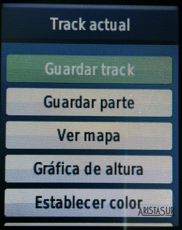 Garmin eTrex 30 guardar track