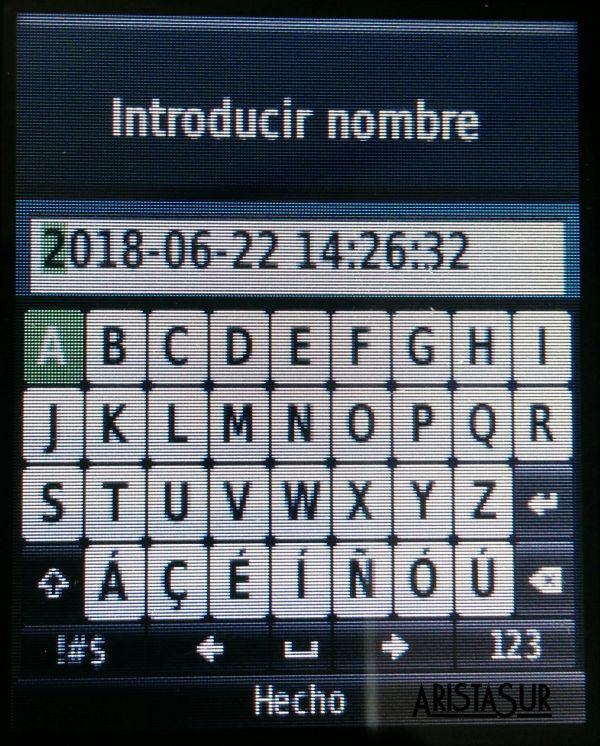 Garmin eTrex guardar track nombre