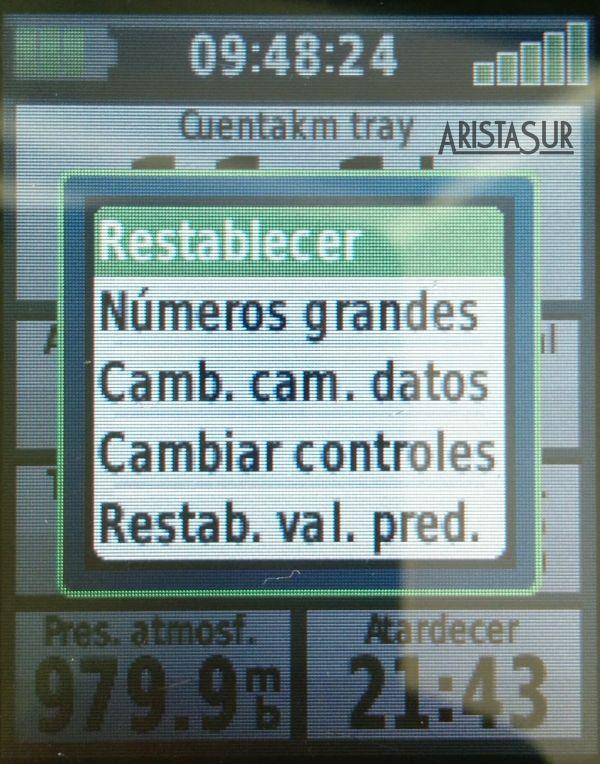 Garmin eTrex 30 Opciones temporizadores