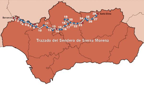 Sierra Morena Mapa Fisico.Sierra Morena Etapas Del Sendero Gr 48 Aristasur